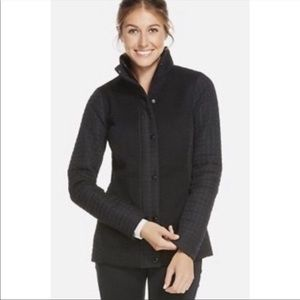 Fabletics black quilted sweater jacket coat XS